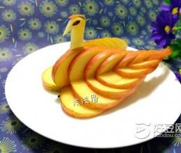 苹果天鹅(水果拼盘)