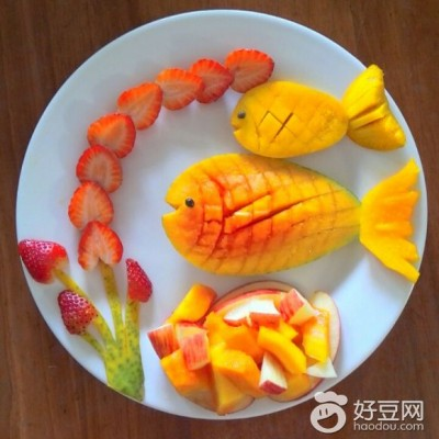 小鱼水果拼盘