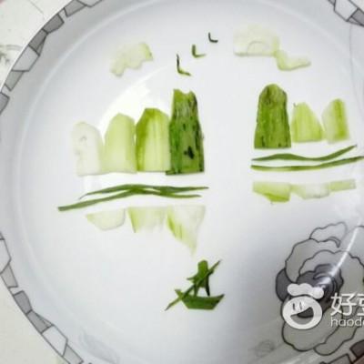 黄瓜山水摆盘(水果拼盘)