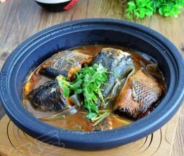 农家铁锅鱼炖宽粉