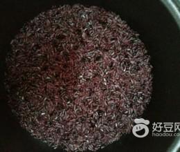 黑米白米饭