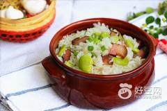 腊味蚕豆饭