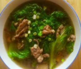 生菜肉丝汤