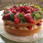草莓櫻桃裸蛋糕