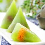 水晶西米南瓜粽