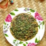 亚麻籽油蒲公英煎蛋饼