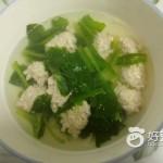 小白菜猪肉丸子汤#新