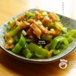 青椒炒萝卜干#新鲜从