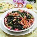 腐竹炒红苋菜