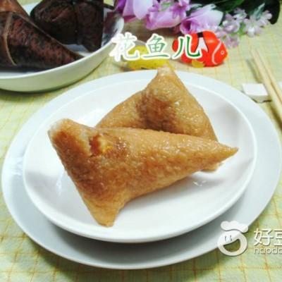 腊肉咸蛋黄糯米粽