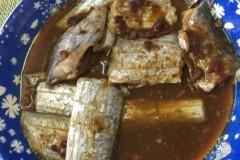 豆瓣酱蒸带鱼
