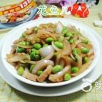 洋葱炒毛豆