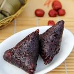 黑米咸肉粽