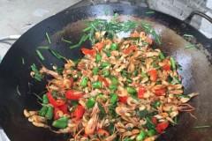河虾炒韭菜