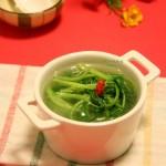 鸡毛菜鱼汤