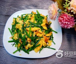 韭菜苔炒蛋