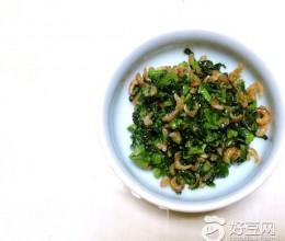莴苣叶拌海米