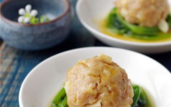 菠菜蒸肉丸