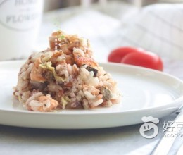 黑椒三文鱼焖饭