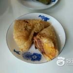 咸蛋黄鲜肉粽子