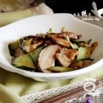 椎茸炒肉片