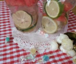 柠檬西瓜蜂蜜水