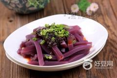 紫薯豌豆凉粉