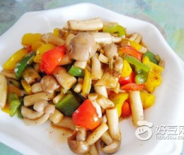 彩椒海鲜菇