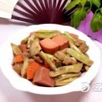 午餐肉炖豆角