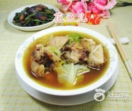 圆白菜牛排骨汤