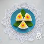 花朵三角飯團