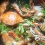 海蟹炒藥芹