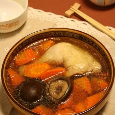 甘笋香菇鸡腿汤