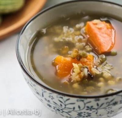 南瓜绿豆甜汤