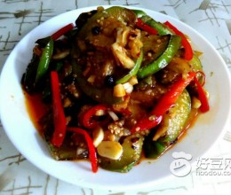 豆瓣彩椒绿茄子