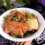 三文鱼排炖玉米