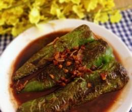 青椒酿肉馅