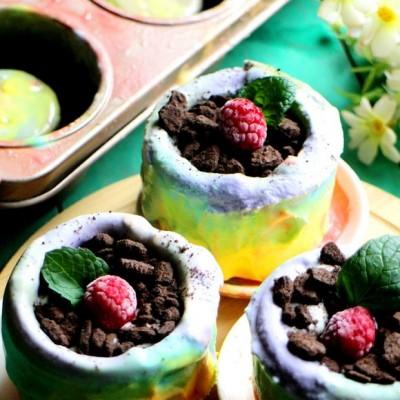 彩虹冰淇淋杯