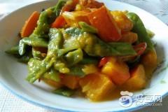 南瓜炖四季豆