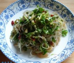 绿豆芽拌粉丝