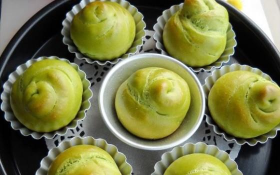 绿玫瑰花面包