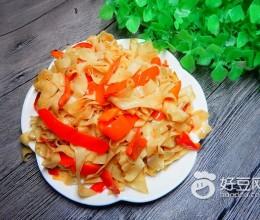 红椒炒豆皮