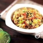莴笋虾仁糙米饭