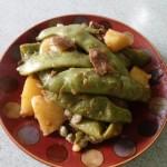 五花肉燉豆角土豆