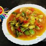 西红柿炒小包菜