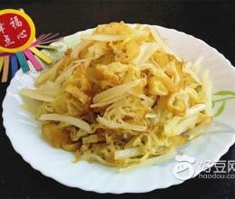 大白菜梗炒油条