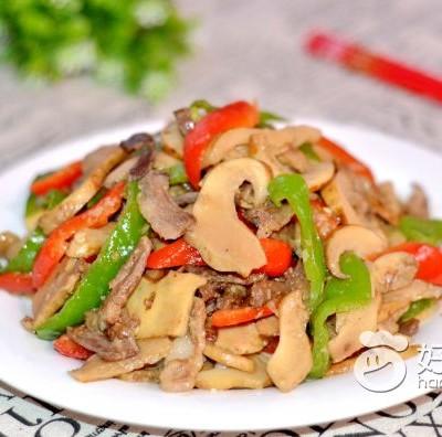 羊肉炒大脆菇