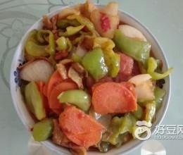 青椒炒葱头