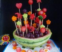 西瓜盅水果花