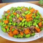 肉末炒毛豆